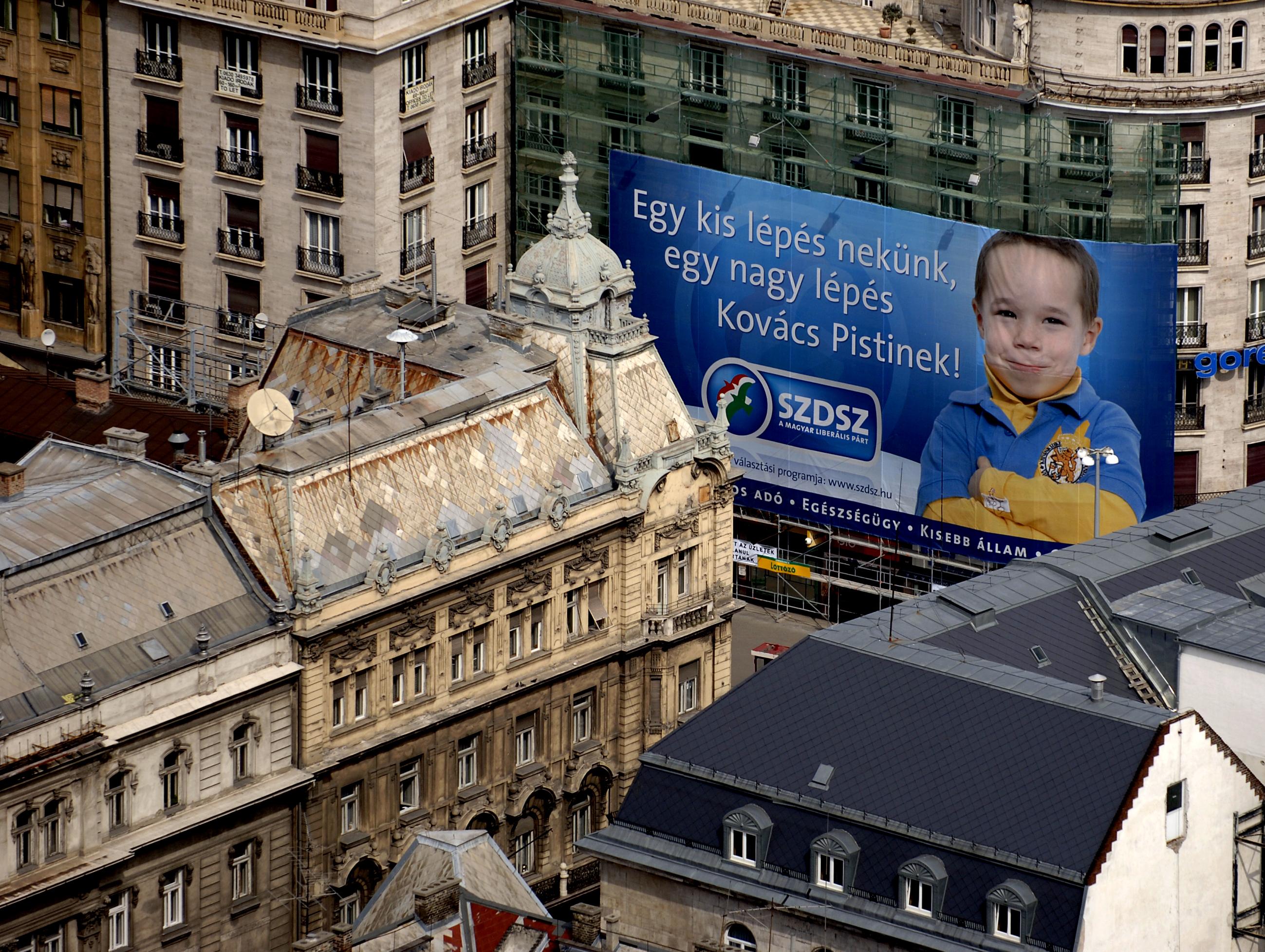 Választás2006 - Óriás SZDSZ plakát Budapesten